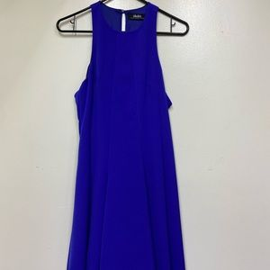 Lulus Purple Halter Style CutOut Back Halter Dress